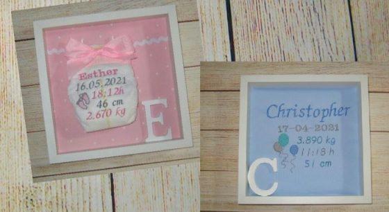 cuadros bebé personalizados natalicios