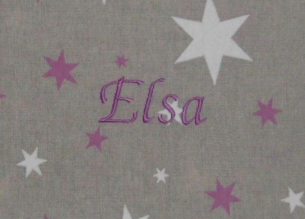 Colorido Estrellas lila bordado lila