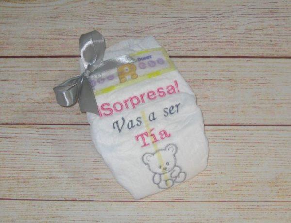 Pañales bordados regalos en Valencia